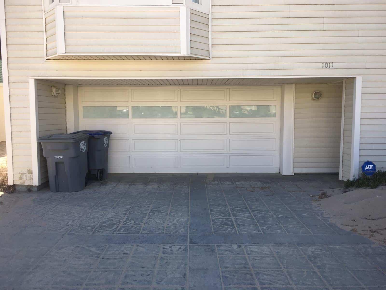 Your garage door produces a weird sound